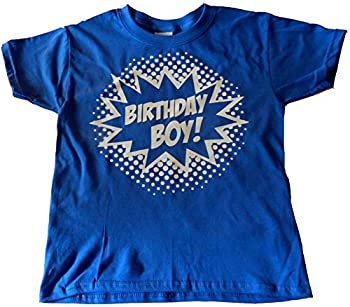 Custom Kingdom Boys  Birthday Boy Superhero T-Shirt  2T Royal Blue