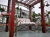 Muyuuu Patrón de Flor de jardín Cojín de Banco 2 3 plazas de Asiento con Respaldo, Patio Swing reclinadores de Espuma...