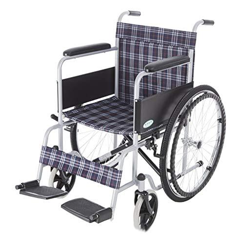 Silla de ruedas FANJIANI Tubería de Acero Manual portátil Plegable rocía Vespa discapacitada Mayor