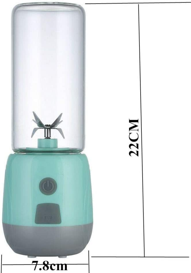 Glove Presse-Agrumes Portable Multifonction Smoothie Rechargeable USB électrique 6 mélangeurs Mignon 400Ml Tasse de jus de Fruits Fabricant de Nourriture Maison Green Juice Maker