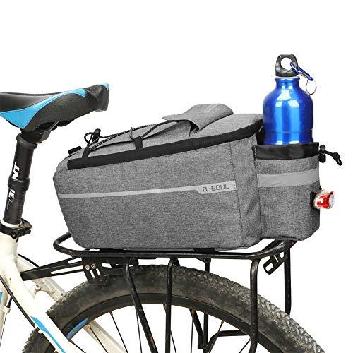 Zdmathe Fahrrad Isoliertasche Kofferraum Cooler Pack Fahrrad Radfahren Gepäckträger Aufbewahrungstasche Reflektierende Tasche MTB Bike Pannier Umhängetasche