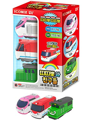 TITIPPO TITIPO TTITTIPPO and Friends 3 Piece Train Toy Set