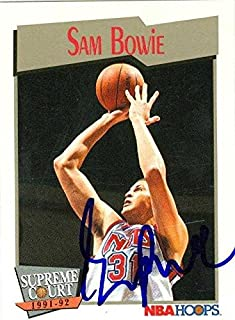 Sam Bowie autographed Basketball Card (New Jersey Nets) 1991 Hoops #481 - Autographed Basketball Cards