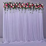 <span class='highlight'><span class='highlight'>Atongham</span></span> White Tulle Chiffon Backdrop for Bridal Shower Wedding Ceremony Backdrops Curtains Newborn Baby Shower Backdrop Photo Booth Background Photography