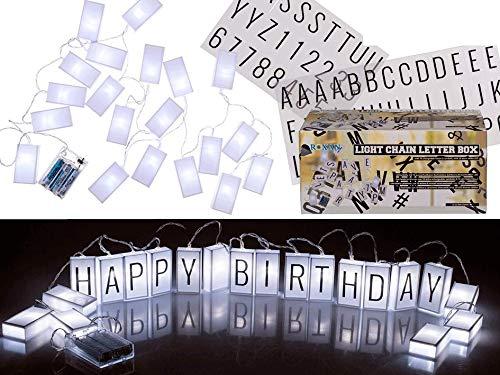 Guirlande lumineuse 20 LED blanches et noires en plastique avec 20 LED dans une boîte cadeau