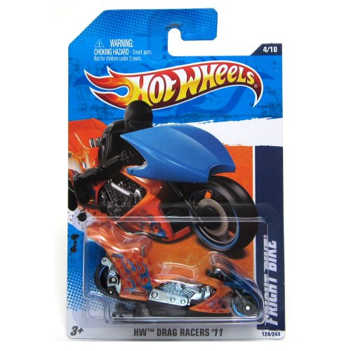 2011 Hot Wheels '69 Fright Bike Orange/Blue #124/244