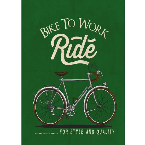 Poster/Canvas Wall Art - RETRO Fiets Grafische Illustratie Vintage (cod.033)