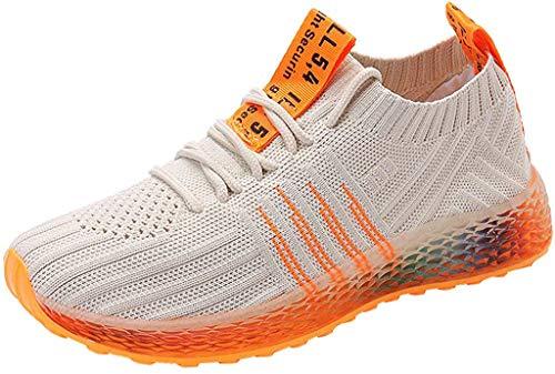 Sneaker Damen Sportschuhe Socken Schuhe Outdoor Schuhe Freizeit Slip On Bequeme Freizeitschuhe Atmungsaktiv Mesh Turnschuhe Laufschuhe Schnürschuhe (EU:35, Beige)