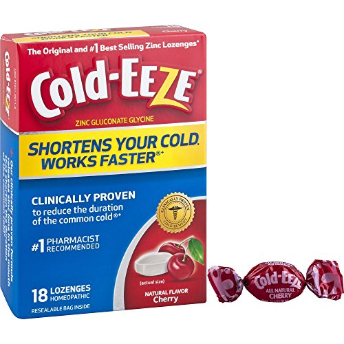 Cold-Eeze Cold Remedy Lozenges, Sugar Free Wild Cherry, 18 Count