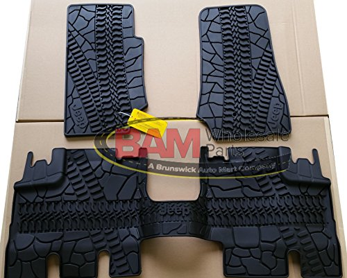 2007-2013 Jeep Wrangler 4Door Front and Rear Slush Mats-3 Piece Set OEM