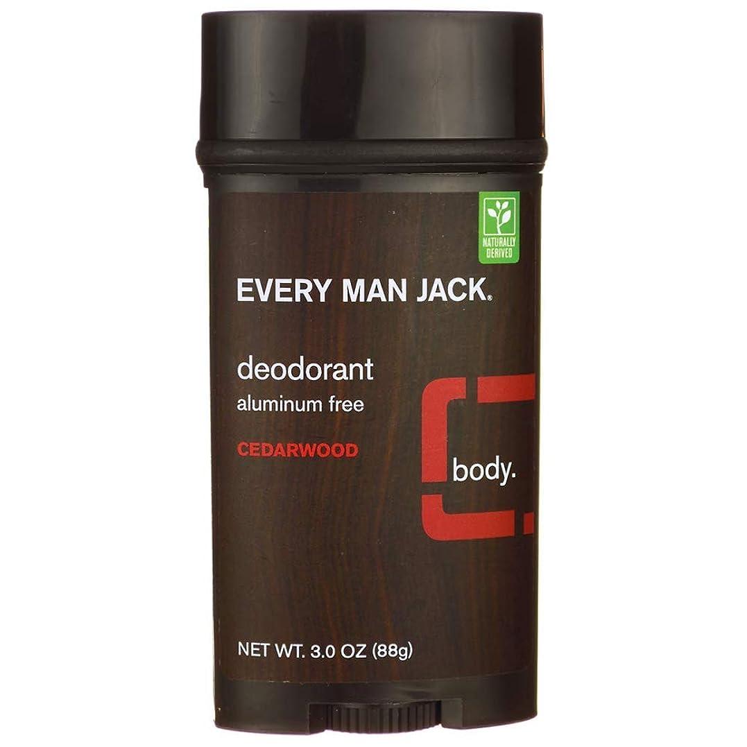 殉教者エントリピケEvery Man Jack Deodorant Stick Aluminum Free Cedar Wood, Cedar Wood 3 oz by Every Man Jack 海外直送