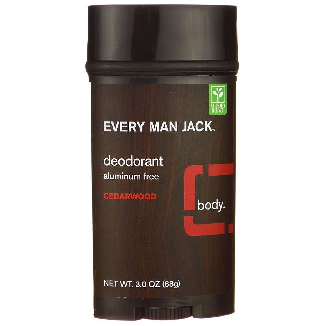 マイクロプロセッサトリプルクマノミEvery Man Jack Deodorant Stick Aluminum Free Cedar Wood, Cedar Wood 3 oz by Every Man Jack 海外直送