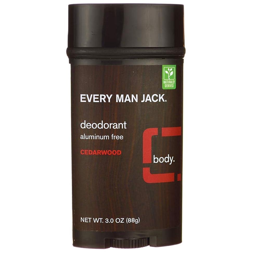 バリア消化お金ゴムEvery Man Jack Deodorant Stick Aluminum Free Cedar Wood, Cedar Wood 3 oz by Every Man Jack 海外直送