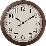 PresenTime & Co 11.5' Farmhouse Antique Bronze/Rustic Round Decorative Wall Clock, Quartz Movement, Battery Operated,...