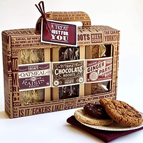 Lottie Shaw's Luxury 3 Pack Biscuit Gift Box - Great Taste Award Winner Oatmeal & Raisin Triple...