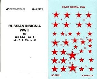 Propagteam Decals 1:72 Russian Insignia for Yak-1/3/9 La-5/7 I-16 IL-2 #02272
