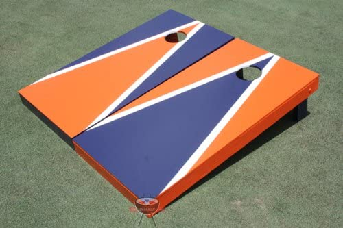 Cheap mail order specialty store Orange and Navy Alternating Hole Triangle Corn Max 45% OFF Boards