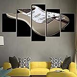JINGMEI Canvas HD Picture 5 Combinación De Pared Guitarra De Instrumento Musical Dormitorio Sala De Estar Habitación De Los Niños Cartel De Regalo Decoración De Arte De Pared