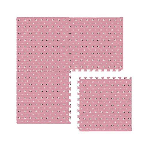 YANGJUN-alfombra puzzle Eva Suelo Goma Antideslizante Anti Caída Insípido Durable Fácil De Limpiar Aislamiento Frio Mezcla De Colores, 2 Tallas (Color : B, Size : 60x60x1.2cm-8pcs)