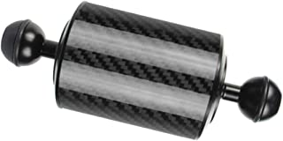 Black Gazechimp 8inch Length 60mm Diameter Dual Balls Carbon Fiber Floating Arm Extend Bracket Ball Diameter 1inch