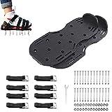 IWILCS 2 zapatos aireadores de césped, zapatos de uñas, escarificadores, sandalias aireadoras de césped con 4 pares correas ajustables, tamaño universal para zapatos o botas para césped