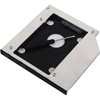 Deyoung 2nd HDD SSD Hard Drive Caddy Adapter for HP Elitebook 2530p 2540p with Matched Bezel
