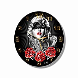 Marilyn Monroe 11 Handmade Reverse (Back Stroke) Wall Clock - Get Unique décor for Home or Office – Best Gift Ideas for Kids, Friends, Parents and Your Soul Mates.
