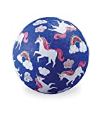Crocodile Creek - Unicorns - Rubber Playground Ball, 5', for Kids Ages 3 & Up
