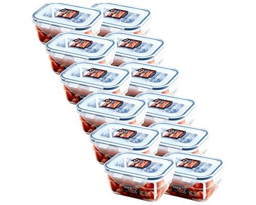 Lock&Lock Frischhaltebox | Frischhaltedose | Gefrierdose | ineinanderstapelbar | Inhalt: 550 ml | 14,5 x 11 x 6,7 cm | HPL311-12er Set
