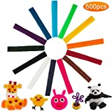 SAVITA 500 PCS Wax Craft Sticks 13 Colors Wax Sticks for Kids Sticks in Bulk Bendable Sticky Wax Yarn for DIY...