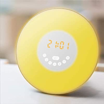 Grundig Radiodespertador con simulaci/ón de Amanecer Despertar por Sonidos Naturales o funci/ón de repetici/ón de Radio luz de Ambiente LED
