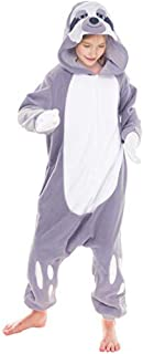 Unisex Child Pajama Plush Onesie One Piece Sloth Animal Costume
