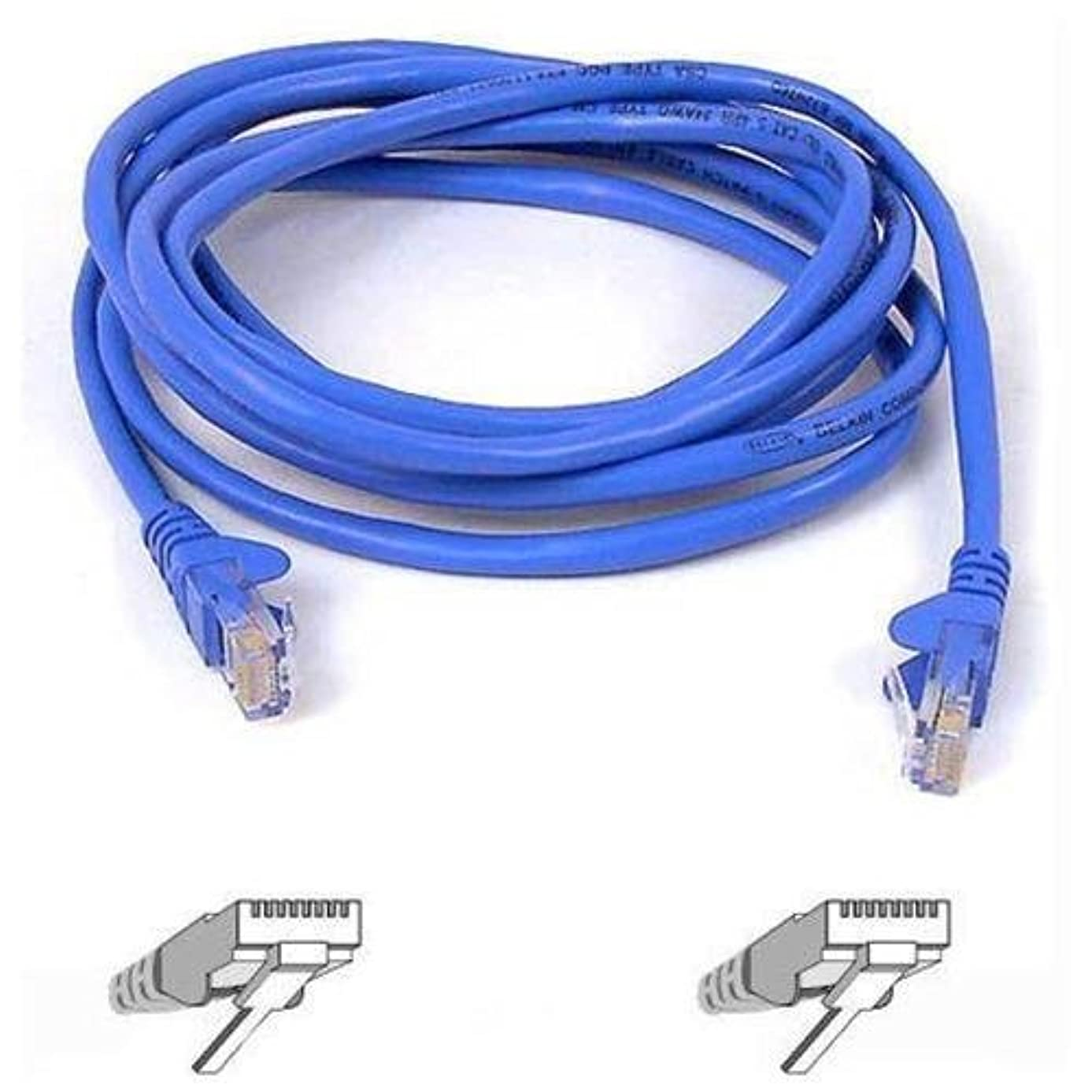 Belkin SNAGLESS CAT6 Patch Cable RJ45M/RJ45M; 100 Blue (A3L980-100-BLUS)