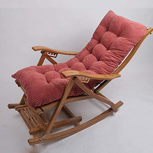 Thick Plush Rocking Chair Cushion,High Back Recliner Cushion Anti-Slip Seat Cushion for Indoor Outdoor Chair Pad Rocking Chair(Cushion Only) Red 48x120cm(19x47inch)