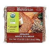 Genuine Bavarian Organic Whole Rye Bread, 17.6 Ounce - 6 per case.6