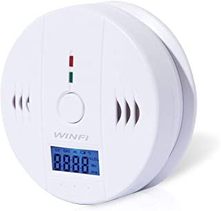 Winfi CO Detector,Carbon Monoxide Gas Detection,Digital Display Carbon Monoxide Alarm with LCD Digital Display,Battery Powered (High-Precision)