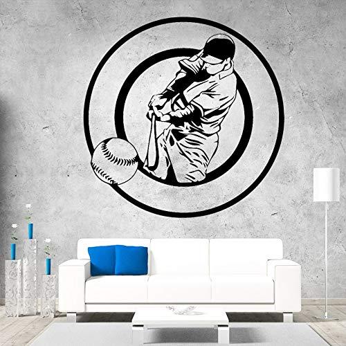 hetingyue honkbalstickers, afneembaar, vinyl, wandstickers, zelfklevend, club, huis, decoratie, baseball, waterdicht, muurstickers