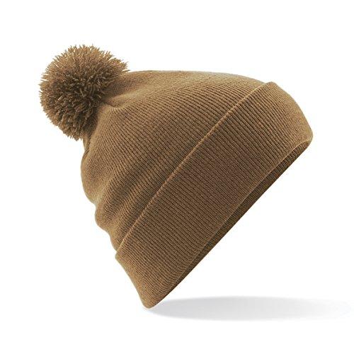 Beechfield - Bonnet avec pompon - Adulte unisexe (Taille unique) (Caramel)