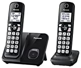 Panasonic Expandable Cordless Phone with Call Block 2 Handsets Black