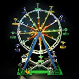 Briksmax Led Lighting Kit for Ferris Wheel - Compatible with Lego 10247 Building Blocks Model- Not Include The Lego Set