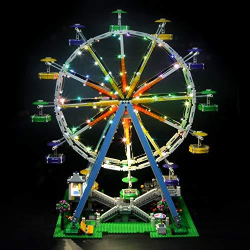 Briksmax Led Beleuchtungsset für Ferris Wheel, Kompatibel Mit Lego 10247 Bausteinen Modell - Ohne Lego Set