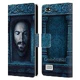 Head Case Designs Oficial HBO Game of Thrones Daario Naharis Caras 2 Carcasa de Cuero Tipo Libro Compatible con Blackberry Leap