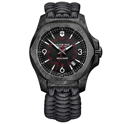 Victorinox Herren Digital Quarz Uhr mit Stoff Armband 241776