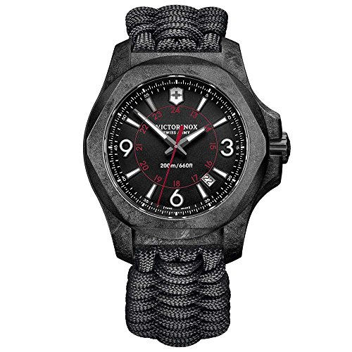 Victorinox 241776 I.N.O.X. Men's Watch Black 43mm Carbon Composite