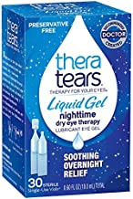 TheraTears Eye Drops for Dry Eyes, Nighttime Dry Eye Therapy Lubricant Eyedrops, Preservative Free, 30 Count Single-Use Vials