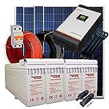 Kit Solar 24v 1000w/5000w día Inversor Multifunción 5kva Regulador MPPT 80A Batería AGM U-Power TFS-250Ah