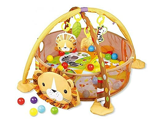 Super Toys Baby Activity Gym Ball Pit Pool Indoor Safe Play MATS 1 Lion/Tortoise
