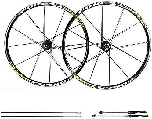 Ruedas De Bicicleta,llantas bicicleta 26 pulgadas de bicicletas de ruedas, ruedas de MTB 27.5 pulgadas de bicicletas de montaña del freno de disco de la rueda Conjunto de liberación rápida 5 Palin coj