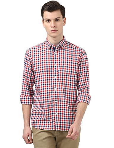 Parx Red Slim Fit Shirt