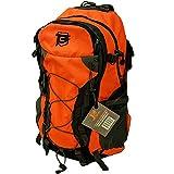 BATTLBOX BattlTac 40L Hiking Backpack Daypack – High Visibility Orange – Includes Rainfly – Lightweight Outdoor Camping Travel Trail Daypack - Trekking Bag